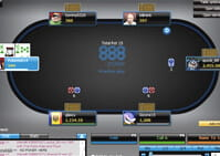 888 Poker Picture of Poker Table