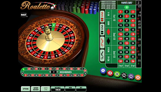 IGT Roulette in-game view of wheel and table