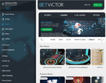 BetVictor homepage and main lobby view on desktop