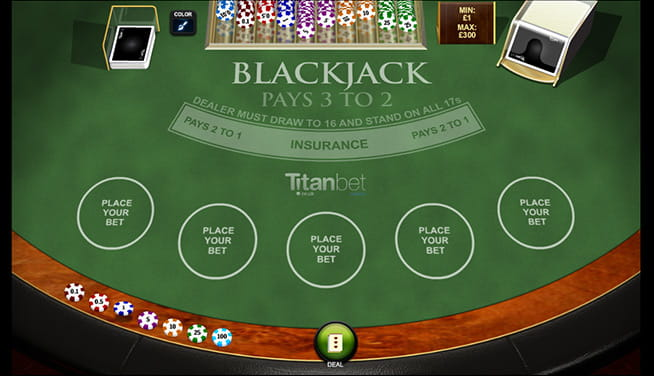 Blackjack Multihand 5 in-game preview of the table