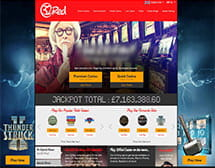 32Red casino homepage and main lobby on desktop view