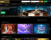 Eurogrand's homepage and lobby view