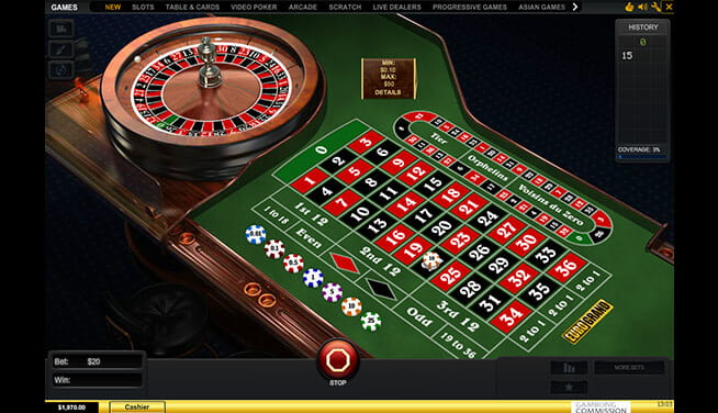 Eurogrand Premium European Roulette - in-game view