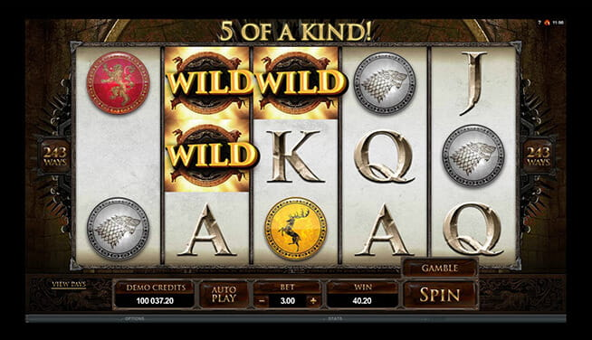 In-game slot game at Grosvernor Casino