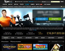 Titanbet homepage and welcome banner