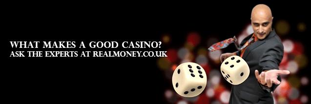 Kasino-Experten bei RealMoney.co.uk