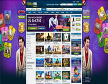 William Hill online casino homepage and lobby