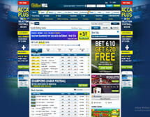 William Hill Main Page Screen Shot