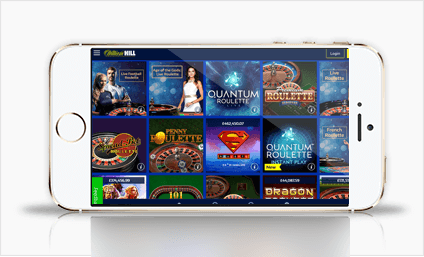 William Hill gambling app on a mobile device
